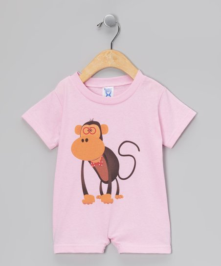 Pink Monkey Romper - Infant