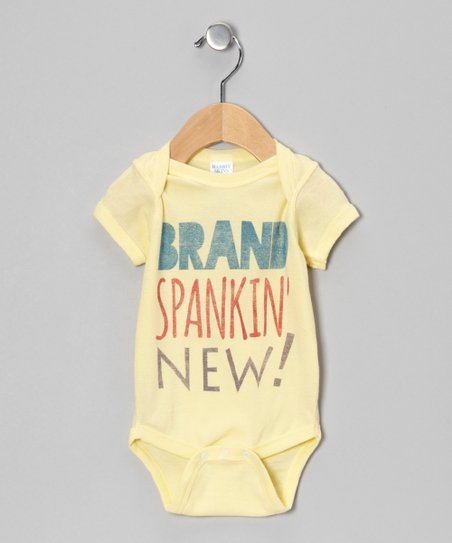 Banana 'Brand Spankin' New!' Bodysuit