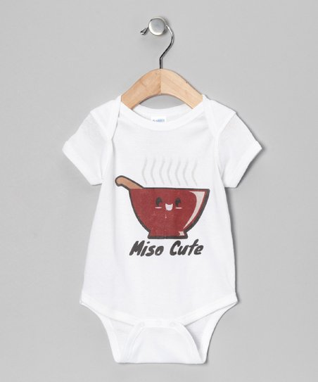 White 'Miso Cute' Bodysuit - Infant