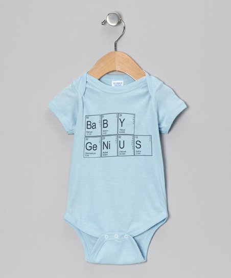 Light Blue 'Baby Genius' Bodysuit