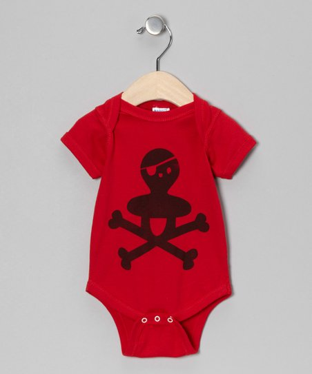Red Scary Bib Bodysuit - Infant