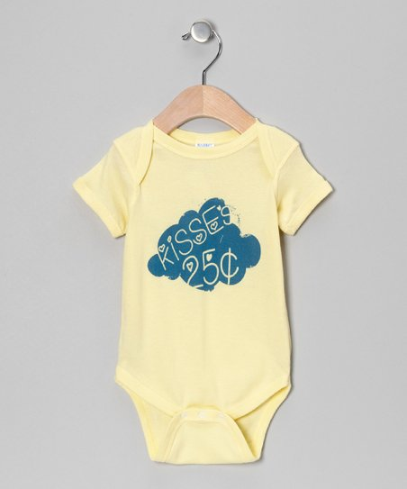 Banana 'Kisses 25 Cents' Bodysuit - Infant
