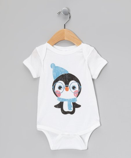 White Spectacled Penguin Bodysuit - Infant