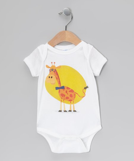 White Giraffe Bodysuit - Infant