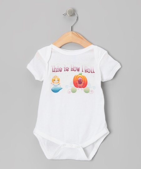 White How I Roll Pumpkin Carriage Bodysuit - Infant