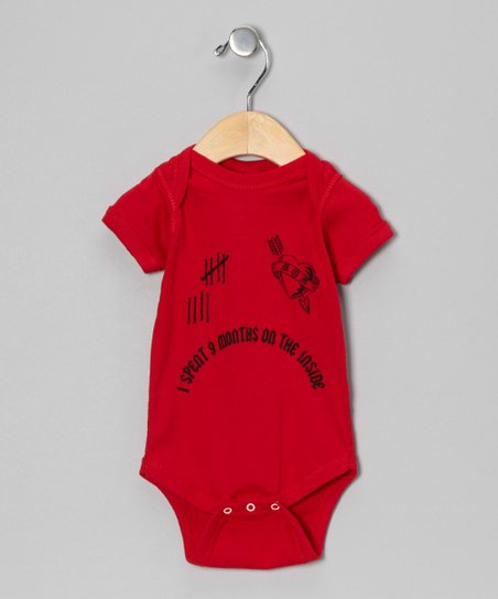 Red '9 Months on the Inside' Bodysuit - Infant