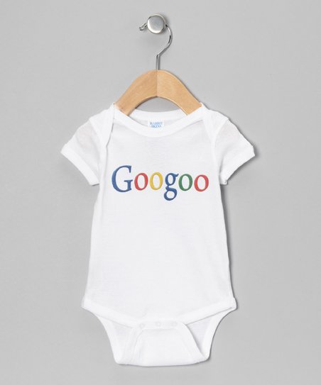 White 'Googoo' Bodysuit - Infant