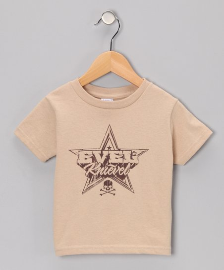 Khaki 'Evel Knievel' Star Tee - Toddler & Kids