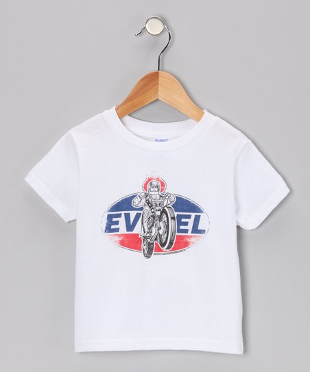White 'Evel' New Sensation Tee - Toddler & Kids