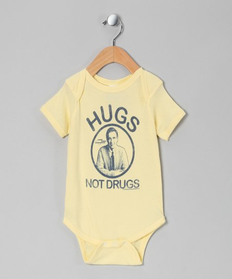 Banana 'Hugs Not Drugs' Bodysuit - Infant