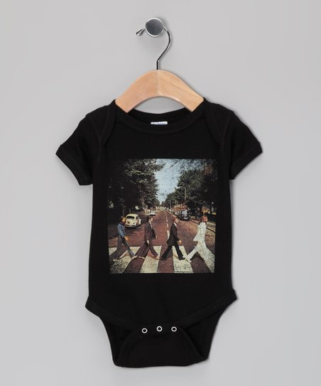 Black Abbey Road Cover Beatles Bodysuit - Infant