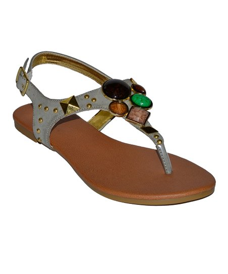Gray Sustend Sandal
