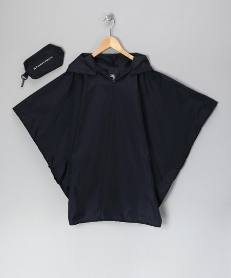 Navy Blue Stormtech Poncho &amp; Pouch