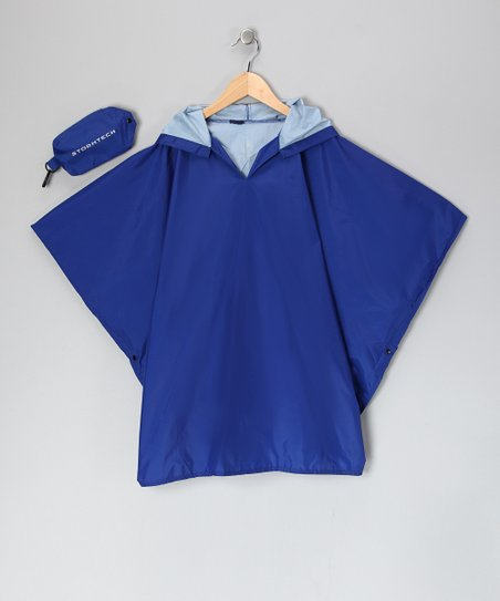 Royal Blue Stormtech Poncho & Pouch