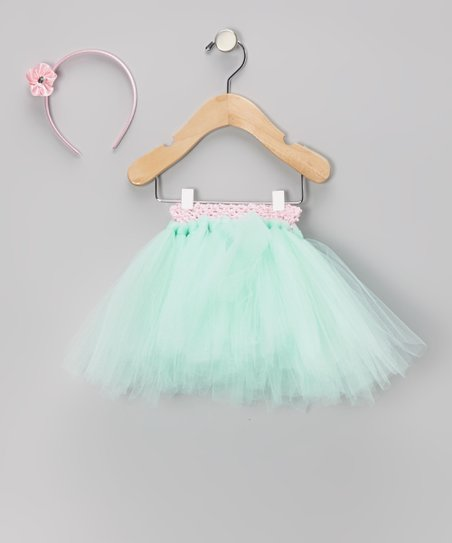 Mint & Pink Tutu & Headband - Infant, Toddler & Girls
