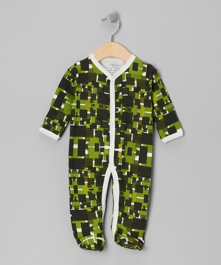 Green Geometric Organic Footie