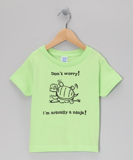 Key Lime &#039;I&#039;m Actually a Ninja&#039; Tee - Toddler &amp; Boys