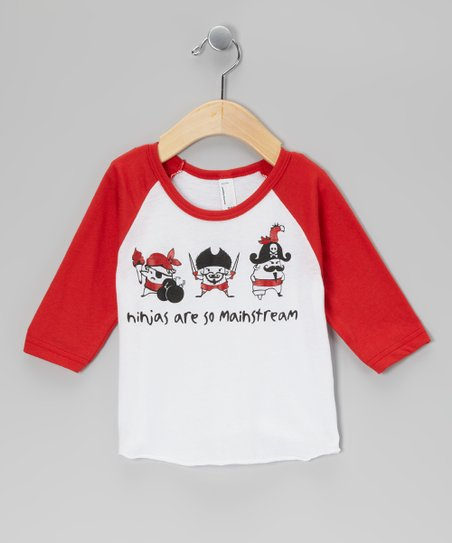 Red 'So Mainstream' Raglan Tee - Infant, Toddler & Boys