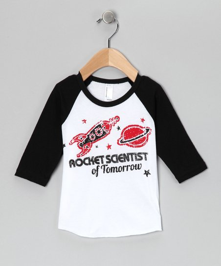 Rainbow Swirlz Black 'Rocket' Raglan Tee - Infant, Toddler & Boys