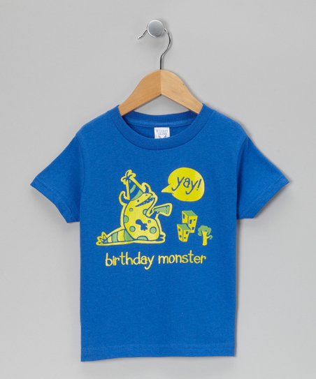 Royal &#039;Birthday Monster&#039; Tee - Toddler &amp; Boys