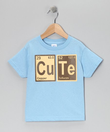 Rainbow Swirlz Light Blue 'CuTe' Tee - Toddler & Boys