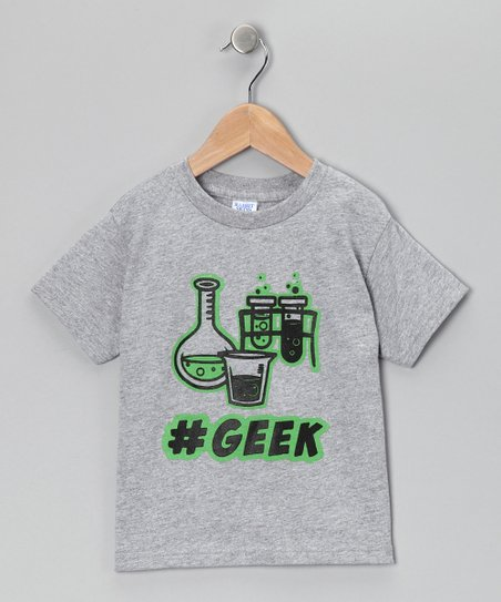 Rainbow Swirlz Gray '#Geek' Tee - Toddler & Boys