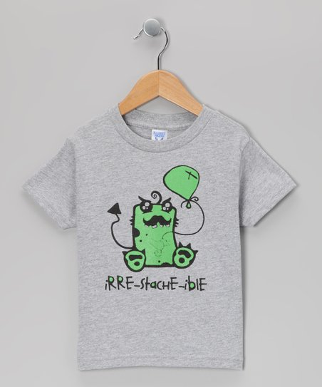 Gray 'Irre-Stache-Ible' Tee - Infant, Toddler & Boys