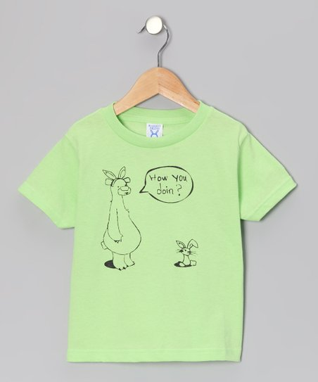 Rainbow Swirlz Key Lime 'How You Doin?' Tee - Toddler & Kids