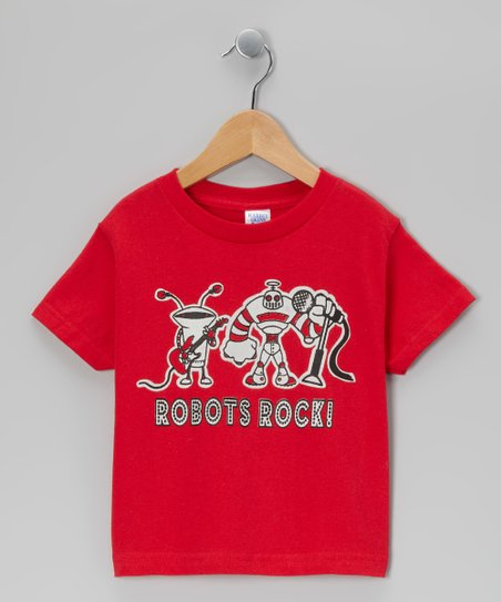 Red 'Robots Rock' Tee - Infant, Toddler & Boys
