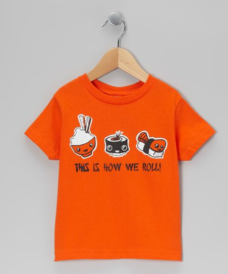 Orange 'This is How We Roll' Tee - Infant, Toddler & Boys