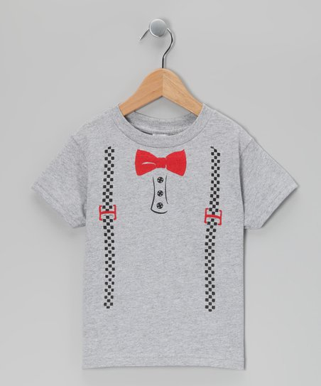 Gray Suspenders Tee - Infant, Toddler & Boys