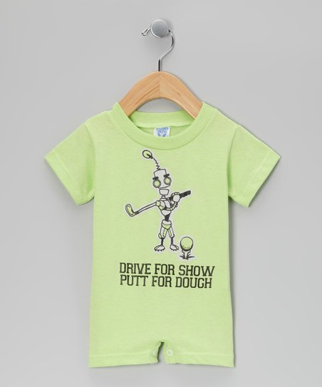 Key Lime 'Putt For Dough' Golf Romper - Infant