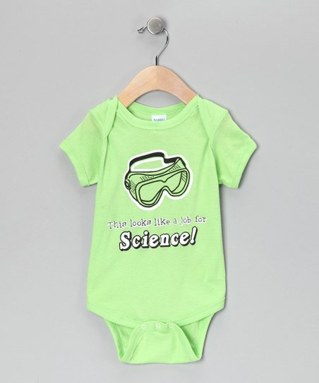 Rainbow Swirlz Key Lime &#039;A Job for Science&#039; Bodysuit - Infant