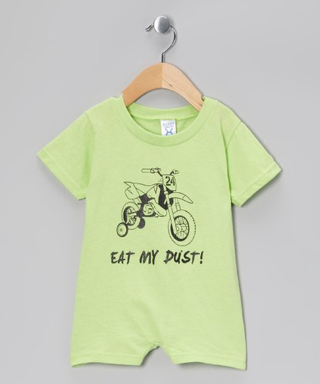 Rainbow Swirlz Key Lime 'Eat My Dust' Romper - Infant