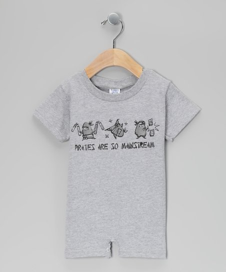 Gray 'Pirates Are so Mainstream' Romper - Infant