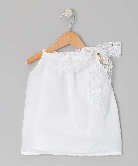 Palencia White Lola Dress - Infant, Toddler & Girls