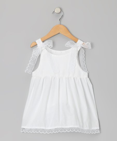 Palencia White Anna Mae Dress - Infant, Toddler & Girls