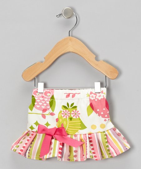 Hot Pink Hoot Owl Ruffle Skirt - Infant & Toddler