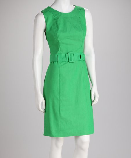 Apple Belted Sleeveless Dress