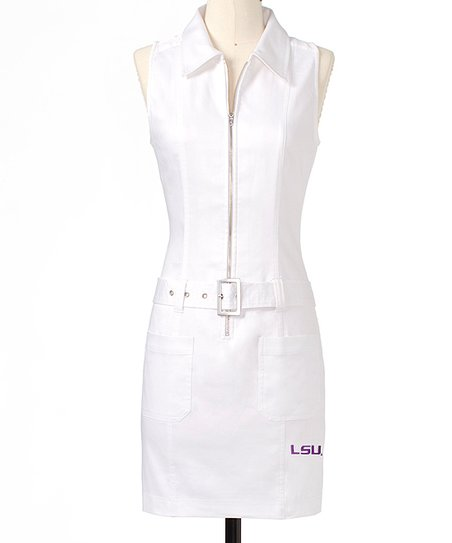 White Louisiana State Dress - Women