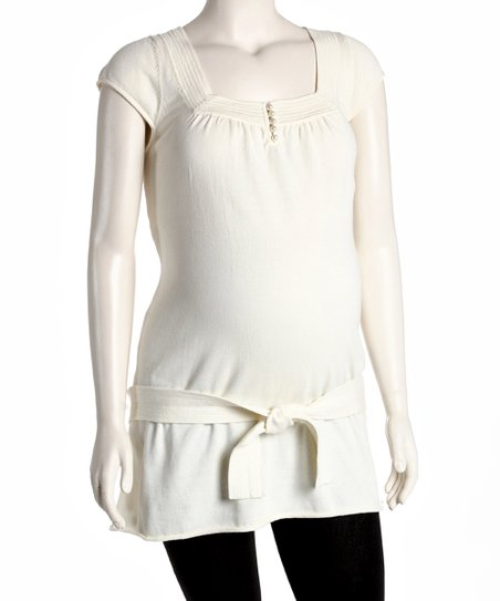 Ivory Maternity Square Neck Tunic - Women