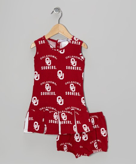 Oklahoma Sooners Cheer Dress & Bloomers – Infant & Toddler