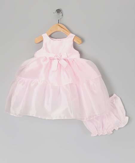 Pink Tiered Dress & Diaper Cover - Infant