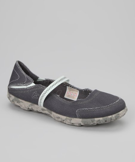Navy W MJ Slipper Flat - Women