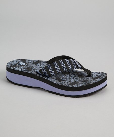 Black Ink Yoga Flop Platform Sandal - Women