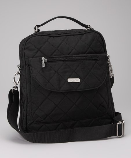 Black & Khaki Quilted Explorer Backpack