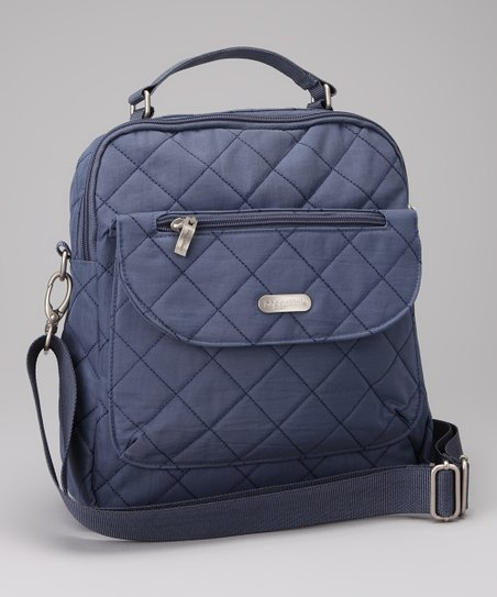 Steel Blue & Leaf Green Quilted Explorer Backpack