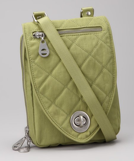 Leaf Green & Steel Blue Geneva Crossbody Bag