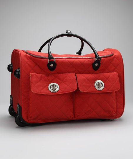Tomato &amp; Mango Quilted Rome Roller Bag