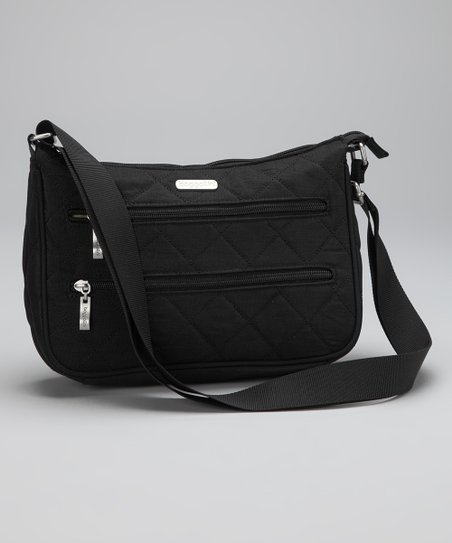 Black & Khaki Quilted Wanderer Hobo